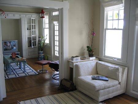 科尔街公寓-从书房看客厅