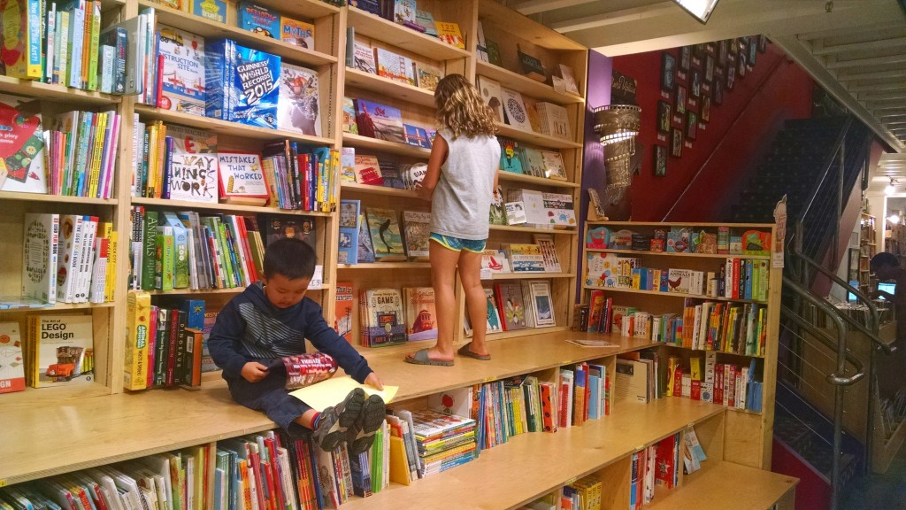 The children section of the new Green Apple Books is awesome!
