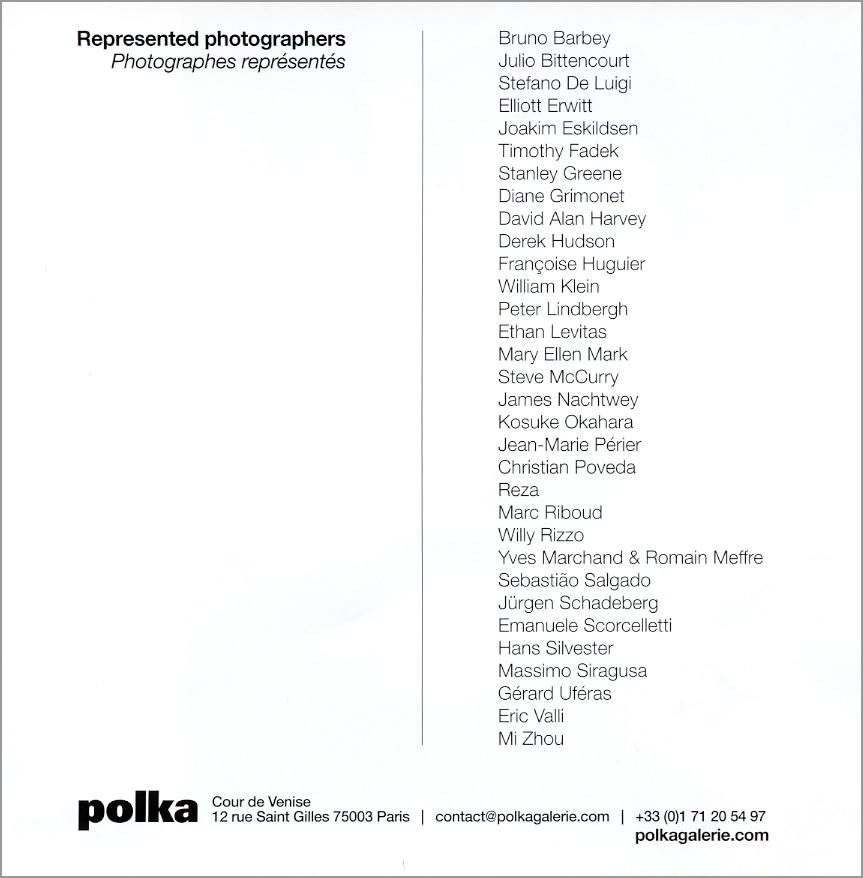 Current Artists Represented by Polka