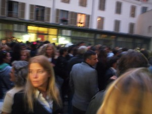 The crowd at the opening