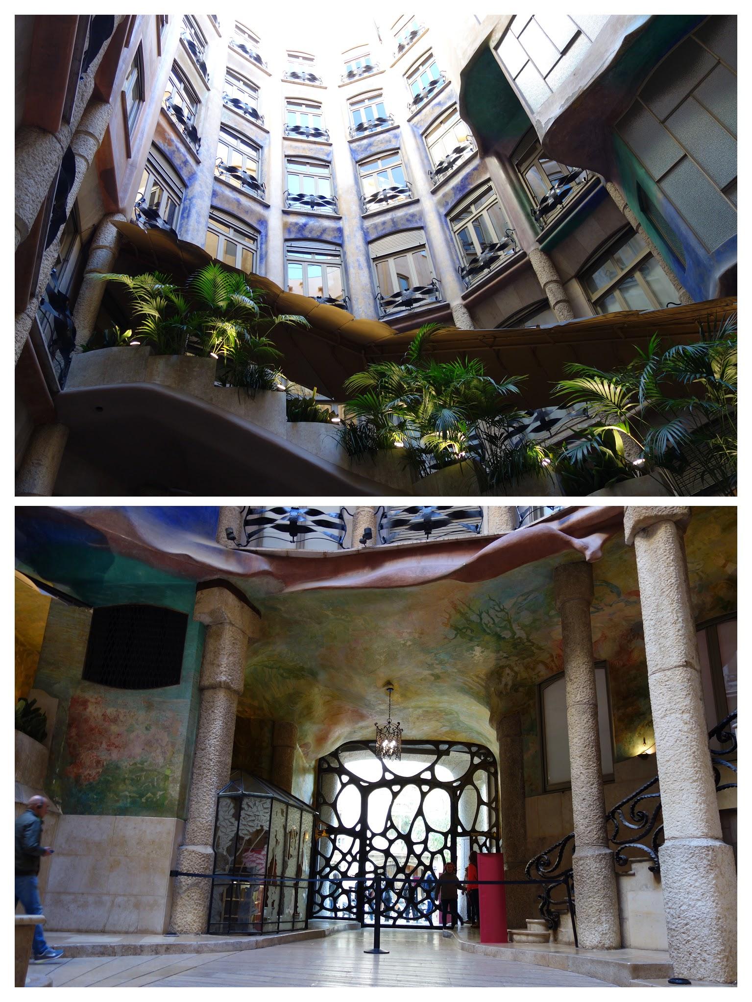 CasaMila中庭门厅-COLLAGE